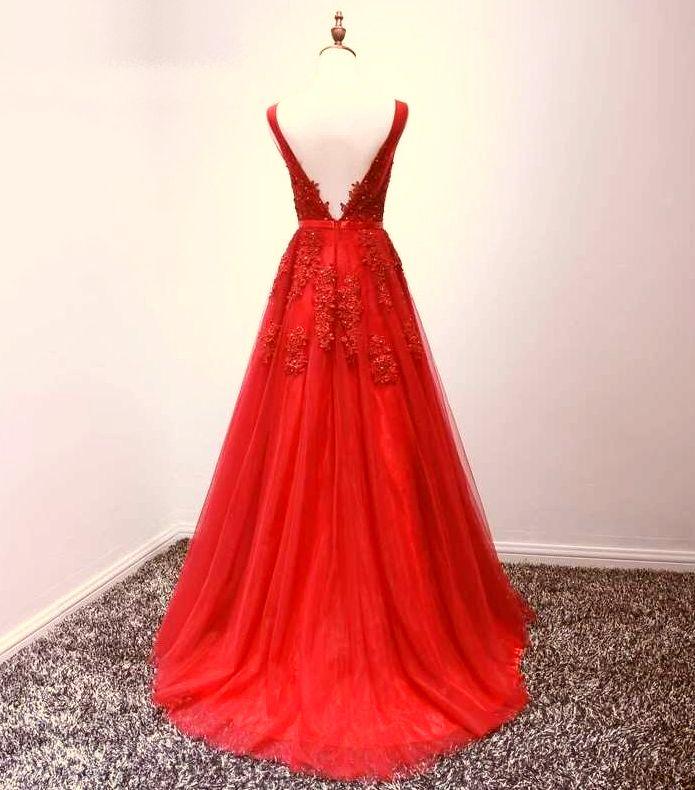 červené plesové šaty tylové na ramínka na maturitní ples - plesové ... 89fcd6af7ce